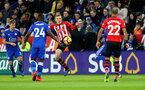LEICESTER, ENGLAND - JANUARY 12: Matt Targett of Southampton during the Premier League match between Leicester City and Southampton FC at The King Power Stadium on January 12, 2019 in Leicester, United Kingdom. (Photo by Matt Watson/Southampton FC via Getty Images)