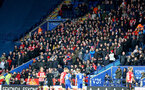 LEICESTER, ENGLAND - JANUARY 12: Southampton fans during the Premier League match between Leicester City and Southampton FC at The King Power Stadium on January 12, 2019 in Leicester, United Kingdom. (Photo by Matt Watson/Southampton FC via Getty Images)