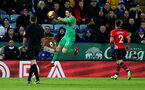 LEICESTER, ENGLAND - JANUARY 12: Alex McCarthy of during the Premier League match between Leicester City and Southampton FC at The King Power Stadium on January 12, 2019 in Leicester, United Kingdom. (Photo by Matt Watson/Southampton FC via Getty Images)