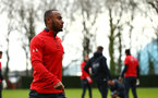 SOUTHAMPTON, ENGLAND - JANUARY 15: Tyreke Johnson during a Southampton FC  training session at Staplewood Complex on January 15, 2019 in Southampton, England. (Photo by James Bridle - Southampton FC/Southampton FC via Getty Images)