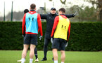 SOUTHAMPTON, ENGLAND - JANUARY 15: Ralph Hasenhuttl (middle) during a Southampton FC  training session at Staplewood Complex on January 15, 2019 in Southampton, England. (Photo by James Bridle - Southampton FC/Southampton FC via Getty Images)