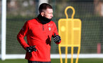 SOUTHAMPTON, ENGLAND - JANUARY 17: Pierre-Emile Hojbjerg during a Southampton FC training session at the Staplewood Campus on January 17, 2019 in Southampton, England. (Photo by Matt Watson/Southampton FC via Getty Images)