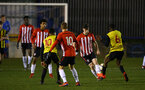 LONDON, ENGLAND - JANUARY 17: Will Ferry (middle) during a  FA Youth Cup match between Watford FC and Southampton FC on January 17, 2019 in Watford, United Kingdom. (Photo by James Bridle - Southampton FC/Southampton FC via Getty Images)
