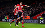 SOUTHAMPTON, ENGLAND - JANUARY 19: James Ward-Prowse of Southampton celebrates after opening the scoring during the Premier League match between Southampton FC and Everton FC at St Mary's Stadium on January 19, 2019 in Southampton, United Kingdom. (Photo by Matt Watson/Southampton FC via Getty Images)