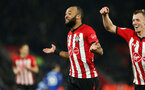 SOUTHAMPTON, ENGLAND - JANUARY 19: Nathan Redmond's goal celebration during the Premier League match between Southampton FC and Everton FC at St Mary's Stadium on January 19, 2019 in Southampton, United Kingdom. (Photo by Chris Moorhouse/Southampton FC via Getty Images)