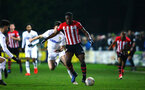 LEEDS, ENGLAND - JANUARY 21:  Jonathan Afolabi  during the PL CUP match between Leeds United vs Southampton FC on January 21, 2019 in Watford, United Kingdom. (Photo by James Bridle - Southampton FC/Southampton FC via Getty Images)