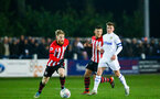 LEEDS, ENGLAND - JANUARY 21:  Josh Sims (left) during the PL CUP match between Leeds United vs Southampton FC on January 21, 2019 in Watford, United Kingdom. (Photo by James Bridle - Southampton FC/Southampton FC via Getty Images)