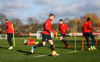 SOUTHAMPTON, ENGLAND - JANUARY 23: Josh Sims during a Southampton FC training session at the Staplewood Campus on January 23, 2019 in Southampton, England. (Photo by Matt Watson/Southampton FC via Getty Images)