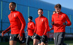 SOUTHAMPTON, ENGLAND - JANUARY 23: Yan Valery(L), Danny Ings(centre) and Sam Gallagher during a Southampton FC training session at the Staplewood Campus on January 23, 2019 in Southampton, England. (Photo by Matt Watson/Southampton FC via Getty Images)