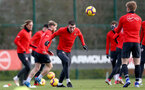 SOUTHAMPTON, ENGLAND - JANUARY 26: Pierre-Emile Hojbjerg during a Southampton FC training session at the Staplewood Campus on January 26, 2019 in Southampton, England. (Photo by Matt Watson/Southampton FC via Getty Images)
