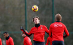 SOUTHAMPTON, ENGLAND - JANUARY 26: Jannik Vestergaard during a Southampton FC training session at the Staplewood Campus on January 26, 2019 in Southampton, England. (Photo by Matt Watson/Southampton FC via Getty Images)