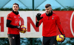SOUTHAMPTON, ENGLAND - JANUARY 26: Fraser Forster(R) and Alex McCarthy during a Southampton FC training session at the Staplewood Campus on January 26, 2019 in Southampton, England. (Photo by Matt Watson/Southampton FC via Getty Images)