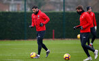 SOUTHAMPTON, ENGLAND - FEBRUARY 01: Charlie Austin(L) and Jack Stephens during a Southampton FC training session at the Staplewood Campus on February 01, 2019 in Southampton, England. (Photo by Matt Watson/Southampton FC via Getty Images)