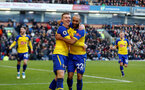 BURNLEY, ENGLAND - FEBRUARY 02: Nathan Redmond(R) scores and celebrates with Matt Targett(L) during the Premier League match between Burnley FC and Southampton FC at Turf Moor on February 02, 2019 in Burnley, United Kingdom. (Photo by Matt Watson/Southampton FC via Getty Images)