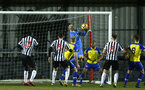 NEWCASTLE, ENGLAND - FEBRUARY 08: Jack Rose makes a save for Southampton FC (middle)during a PLCUP match between Southampton FC and Newcastle United pictured at Northumberland County FA on February 08, 2019 in Newcastle, England. (Photo by James Bridle - Southampton FC/Southampton FC via Getty Images)