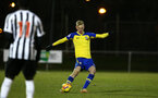 NEWCASTLE, ENGLAND - FEBRUARY 08: Christoph Klarer (right) during a PLCUP match between Southampton FC and Newcastle United pictured at Northumberland County FA on February 08, 2019 in Newcastle, England. (Photo by James Bridle - Southampton FC/Southampton FC via Getty Images)