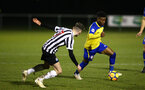 NEWCASTLE, ENGLAND - FEBRUARY 08: Nathan Tella  (Right) during a PLCUP match between Southampton FC and Newcastle United pictured at Northumberland County FA on February 08, 2019 in Newcastle, England. (Photo by James Bridle - Southampton FC/Southampton FC via Getty Images)