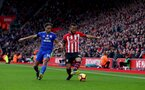 SOUTHAMPTON, ENGLAND - FEBRUARY 09: Ryan Bertrand(R) of Southampton and Bobby Reid of Cardiff City during the Premier League match between Southampton FC and Cardiff City at St Mary's Stadium on February 09, 2019 in Southampton, United Kingdom. (Photo by Matt Watson/Southampton FC via Getty Images)