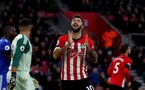 SOUTHAMPTON, ENGLAND - FEBRUARY 09: Charlie Austin of Southampton after a missed opportunity during the Premier League match between Southampton FC and Cardiff City at St Mary's Stadium on February 09, 2019 in Southampton, United Kingdom. (Photo by Matt Watson/Southampton FC via Getty Images)