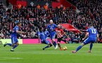SOUTHAMPTON, ENGLAND - FEBRUARY 09: Nathan Redmond of Southampton shoots at goal during the Premier League match between Southampton FC and Cardiff City at St Mary's Stadium on February 09, 2019 in Southampton, United Kingdom. (Photo by Matt Watson/Southampton FC via Getty Images)