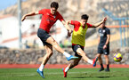 TENERIFE, SPAIN - FEBRUARY 12: Sam Gallagher(L) and Alfie Jones on day 2 of Southampton FC's winter training Camp, on February 12, 2019 in Tenerife, Spain. (Photo by Matt Watson/Southampton FC via Getty Images)