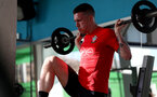TENERIFE, SPAIN - FEBRUARY 12: Pierre-Emile Hojbjerg on day 2 of Southampton FC's winter training Camp, on February 12, 2019 in Tenerife, Spain. (Photo by Matt Watson/Southampton FC via Getty Images)