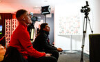 SOUTHAMPTON, ENGLAND - FEBRUARY 14: James Morris (right) plays Jack Bycroft at FIFA 19 during the ePremier League tournament held at St Mary's Stadium on February 14, 2019 in Southampton, England. (Photo by James Bridle - Southampton FC/Southampton FC via Getty Images)