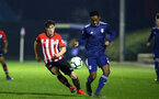 SOUTHAMPTON, ENGLAND - FEBRUARY 15: Will Ferry (left) during the U23s PL2 match between Southampton FC and Fulham FC pictured at Staplewood Complex on February 15, 2019 in Southampton, England. (Photo by James Bridle - Southampton FC/Southampton FC via Getty Images)