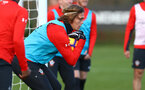 Jannik Vestergaard during a Southampton FC training session at the Staplewood Campus, Southampton, 19th February 2019