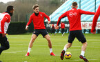SOUTHAMPTON, ENGLAND - FEBRUARY 20: Sam Gallagher (middle) during a Southampton FC training session pictured at Staplewood Complex on February 20, 2019 in Southampton, England. (Photo by James Bridle - Southampton FC/Southampton FC via Getty Images)