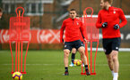 SOUTHAMPTON, ENGLAND - FEBRUARY 20: Oriol Romeu (middle) during a Southampton FC training session pictured at Staplewood Complex on February 20, 2019 in Southampton, England. (Photo by James Bridle - Southampton FC/Southampton FC via Getty Images)