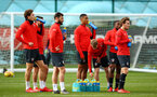 SOUTHAMPTON, ENGLAND - FEBRUARY 20: Southampton players hydrate during a Southampton FC training session pictured at Staplewood Complex on February 20, 2019 in Southampton, England. (Photo by James Bridle - Southampton FC/Southampton FC via Getty Images)