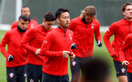 SOUTHAMPTON, ENGLAND - FEBRUARY 22: Maya Yoshida during a Southampton FC training session at the Staplewood Campus on February 22, 2019 in Southampton, England. (Photo by Matt Watson/Southampton FC via Getty Images)