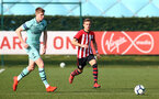 SOUTHAMPTON, ENGLAND - FEBRUARY 23:  Kornelius Hansen (right) during the U18's premier league match between Southampton FC and Arsenal FC pictured in Southampton, England. (Photo by James Bridle - Southampton FC/Southampton FC via Getty Images)