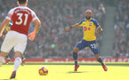 LONDON, ENGLAND - FEBRUARY 24: Nathan Redmond of Southampton during the Premier League match between Arsenal FC and Southampton FC at Emirates Stadium on February 24, 2019 in London, United Kingdom. (Photo by Matt Watson/Southampton FC via Getty Images)