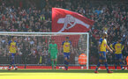 LONDON, ENGLAND - FEBRUARY 24: Arsenal score during the Premier League match between Arsenal FC and Southampton FC at Emirates Stadium on February 24, 2019 in London, United Kingdom. (Photo by Matt Watson/Southampton FC via Getty Images)