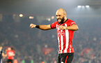 SOUTHAMPTON, ENGLAND - FEBRUARY 27: Nathan Redmond of Southampton celebrates during the Premier League match between Southampton FC and Fulham FC at St Mary's Stadium on February 27, 2019 in Southampton, United Kingdom. (Photo by Matt Watson/Southampton FC via Getty Images)