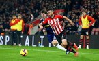 SOUTHAMPTON, ENGLAND - FEBRUARY 27: Shane Long of Southampton during the Premier League match between Southampton FC and Fulham FC at St Mary's Stadium on February 27, 2019 in Southampton, United Kingdom. (Photo by Matt Watson/Southampton FC via Getty Images)