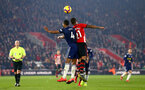 SOUTHAMPTON, ENGLAND - FEBRUARY 27:  Ryan Bertrand (right) during the Premier League match between Southampton FC and Fulham FC at St Mary's Stadium on February 27, 2019 in Southampton, United Kingdom. (Photo by James Bridle - Southampton FC/Southampton FC via Getty Images)