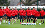 SOUTHAMPTON, ENGLAND - MARCH 01: Players run during a Southampton FC training session at the Staplewood Campus on March 01, 2019 in Southampton, England. (Photo by Matt Watson/Southampton FC via Getty Images)