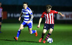 SOUTHAMPTON, ENGLAND - MARCH 01: Jake Vokins  (right) during the PL2 match between Southampton FC and Reading FC pictured at Staplewood Complex on March 01, 2019 in Southampton, England. (Photo by James Bridle - Southampton FC/Southampton FC via Getty Images)