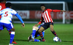 SOUTHAMPTON, ENGLAND - MARCH 01: Nathan Tella (right) during the PL2 match between Southampton FC and Reading FC pictured at Staplewood Complex on March 01, 2019 in Southampton, England. (Photo by James Bridle - Southampton FC/Southampton FC via Getty Images)
