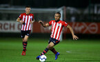 SOUTHAMPTON, ENGLAND - MARCH 01: Tyreke Johnson (right) during the PL2 match between Southampton FC and Reading FC pictured at Staplewood Complex on March 01, 2019 in Southampton, England. (Photo by James Bridle - Southampton FC/Southampton FC via Getty Images)
