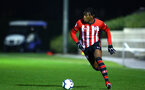 SOUTHAMPTON, ENGLAND - MARCH 01: Dan Nlundulu of Southampton FC (right) during the PL2 match between Southampton FC and Reading FC pictured at Staplewood Complex on March 01, 2019 in Southampton, England. (Photo by James Bridle - Southampton FC/Southampton FC via Getty Images)