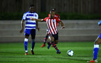 SOUTHAMPTON, ENGLAND - MARCH 01: Tyreke Johnson of Southampton FC (middle) during the PL2 match between Southampton FC and Reading FC pictured at Staplewood Complex on March 01, 2019 in Southampton, England. (Photo by James Bridle - Southampton FC/Southampton FC via Getty Images)