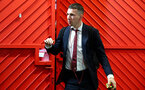 MANCHESTER, ENGLAND - MARCH 02: Pierre-Emile Hojbjerg of Southampton ahead of the Premier League match between Manchester United and Southampton FC at Old Trafford on March 02, 2019 in Manchester, United Kingdom. (Photo by Matt Watson/Southampton FC via Getty Images)