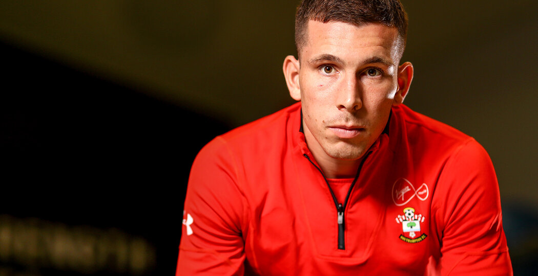 SOUTHAMPTON, ENGLAND - MARCH 06: Pierre-Emile Hojbjerg of Southampton pictured at the Staplewood Campus for the clubs match day magazine, on March 06, 2019 in Southampton, England. (Photo by Matt Watson/Southampton FC via Getty Images)
