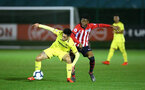 SOUTHAMPTON, ENGLAND - MARCH 06: Nathan Tella (right) during the U23's International Cup match between Southampton FC vs Villarreal pictured at Staplewood Complex on March 06, 2019 in Southampton, England. (Photo by James Bridle - Southampton FC/Southampton FC via Getty Images)