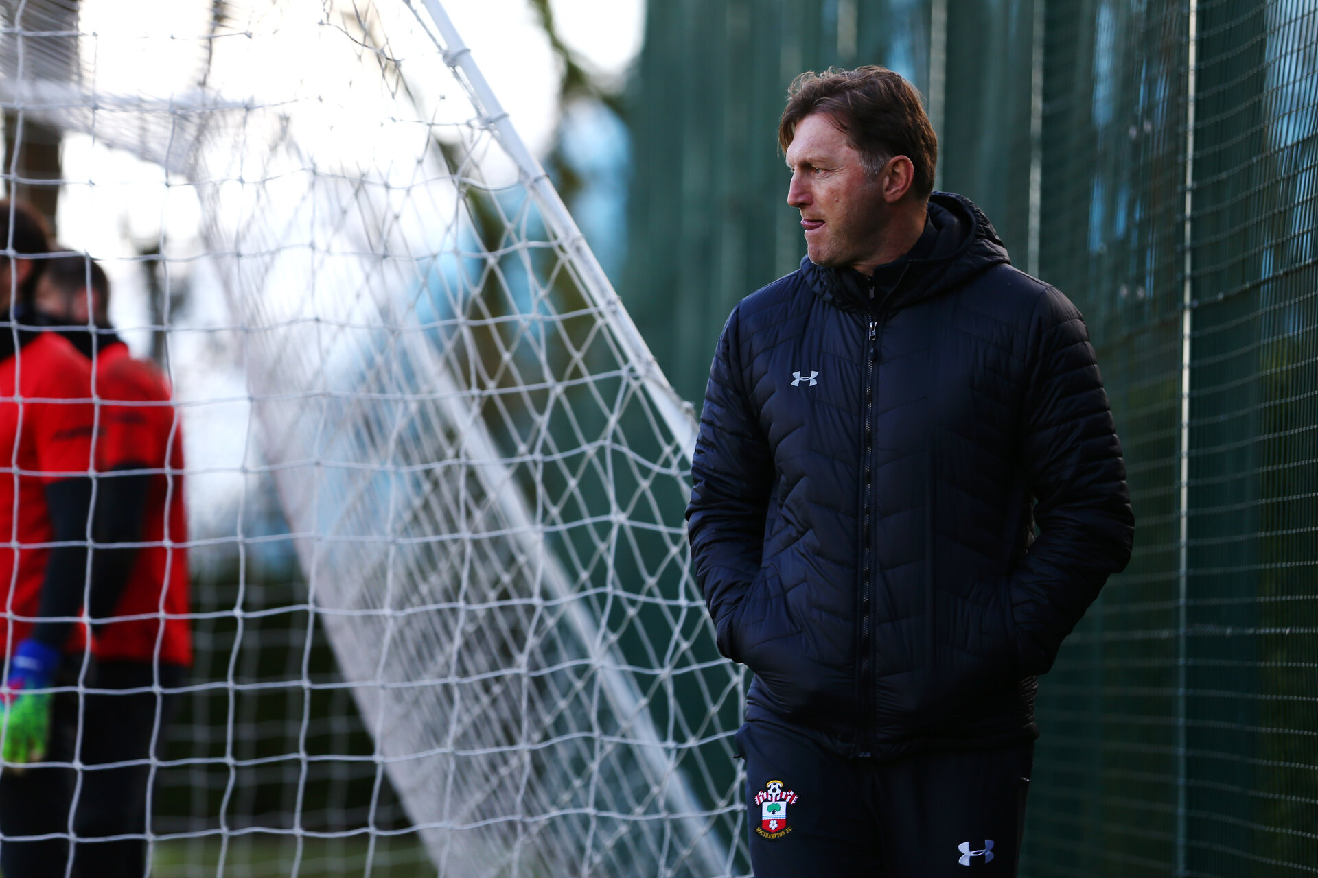 SOUTHAMPTON, ENGLAND - MARCH 07:  Ralph Hasenhuttl during a Southampton FC training session pictured at Staplewood Complex on March 07, 2019 in Southampton, England. (Photo by James Bridle - Southampton FC/Southampton FC via Getty Images)