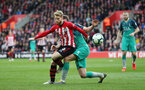 SOUTHAMPTON, ENGLAND - MARCH 09: Josh Sims during the Premier League match between Southampton FC and Tottenham Hotspur at St Mary's Stadium on March 9, 2019 in Southampton, United Kingdom. (Photo by Chris Moorhouse/Southampton FC via Getty Images)